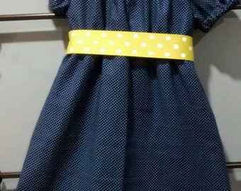 Peasant Dress Baby girl navy