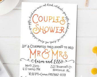 Couples Shower Invitation - Couples Shower Invitation Printable -