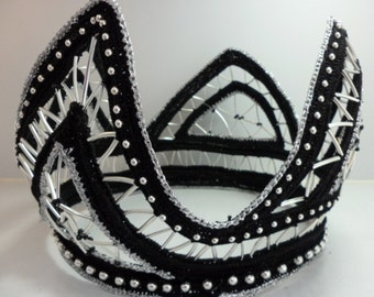 Black and silver crown