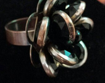 Size 7 flower statement ring