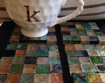Mosaic Tile Coasters (set of 4)
