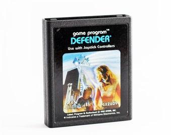 Atari Game - DEFENDER - for Atari 2600, Retro Gaming Throwback Vintage Game Cartridge Geek Nerd Present Boyfriend Man Husband Gift Toy Lover