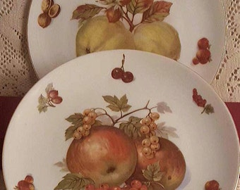 Seltmann Weiden 2 Fruit Plates West Germany