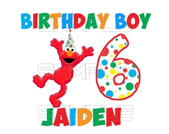Elmo Birthday Iron On Transfer Digital