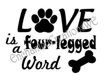 SVG file -LOVE is a four-legged Word