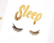 Custom Gold Foil Print - Gold Foil Print - Pink Print - Sleep 8x10, 5x7, 4x6, FOIL Print
