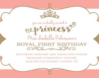 Royal First Birthday Invitation