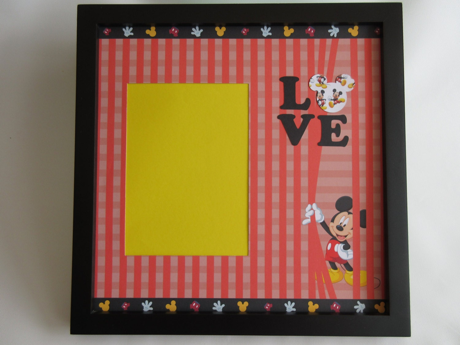 Disney Themed Inspired Picture Frame 5x7 Frames Mickey Mouse