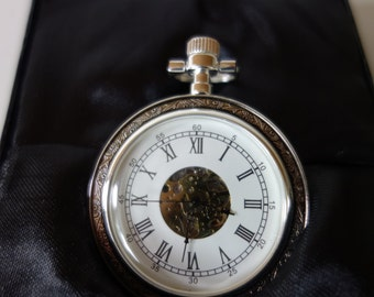 Heritage Collection Silver Plated Pocket Watch