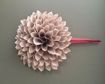 Handmade Paper Dahlia Wreath
