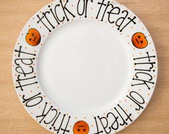 Ceramic Trick or Treat Plate