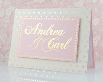 Personalized Wedding Congratulations Card, Gold Foil, Engagement Congratulations, Custom, Bride Groom Custom, Luxury Handmade Greeting Card
