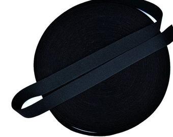 20 Meters Black 1 inch (25mm) Suspender Webbing / Waistband Elastic