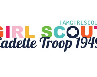 Personalized Girl Scout Cadette Troop Logo