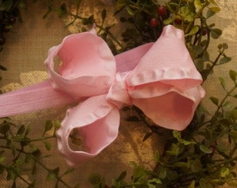 Light Pink Bow - 1/2 Inch Headband