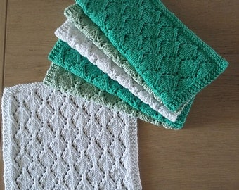 Set of 6 knitted guest towels