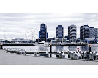 Docklands Panoramic View  - Canvas/Decal/Vinyl/Poster