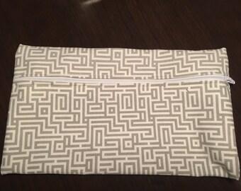 Grey and White bag