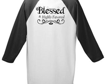 Blessed Christian Baseball Tee
