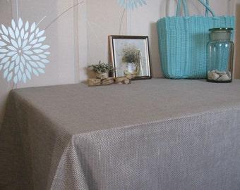 Canva Heavy linen Tablecloth Placemats Runner Grey