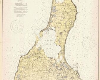 1914 Nautical Map of Block Island Rhode Island