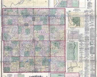 1876 Map of Gratiot County Michigan