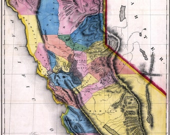 1851 Map of the California Gold Region