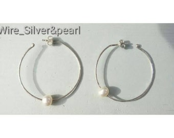 Wire thread earrings silver pendant 0. 7 mm sheet