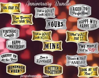 Anniversary Props | Anniversary Signs | Photo Booth Props | Prop Signs