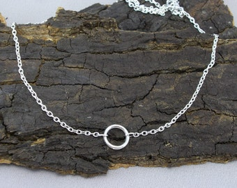 Necklace Karma necklace ring silver