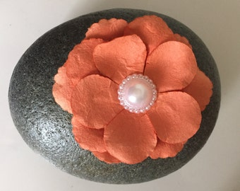 Stone Decorated with Flower