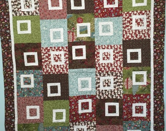 Modern Holiday Throw Size Quilt