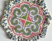 Coaster // Paj Ntaub // Hmong Collectible // Cross-stitch // Pastel Colors