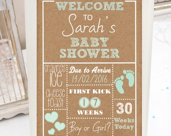 rustic baby shower  etsy, Baby shower invitation