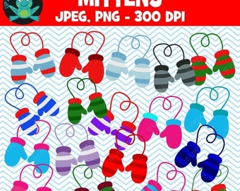 75% OFF SALE Mittens Clipart, Commercial Use, Winter Mittens - UZ845