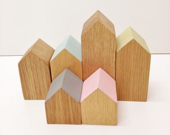 Wooden building houses