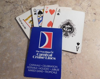 Vintage Carnival Cruise Playing Cards