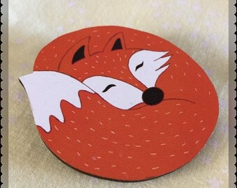 Foxy Brooch. (Includes FREE shipping in Australia!)