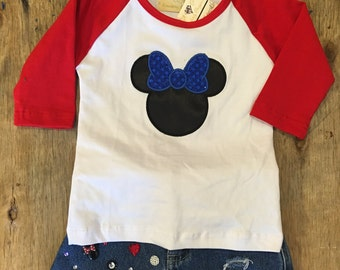 Minnie Mouse baby tee