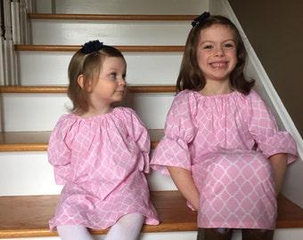Custom Girls Peasant Dress Sizes 6 months to 2T