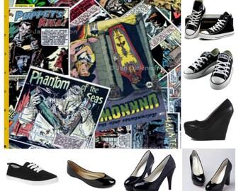 Vintage Horror comics shoes