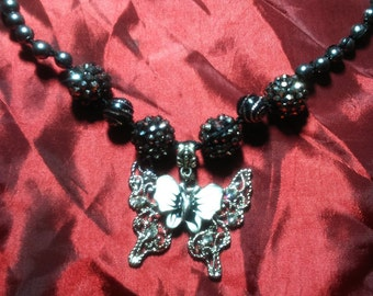 Baroque style Butterfly Necklace