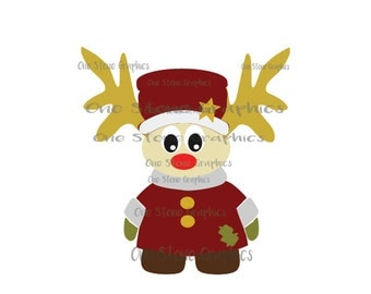 Christmas svg,Christmas,Moose,moose svg,moose clip art,Santa's helper svg,Sheriff moose,primitive svg,primitive,cute Christmas, cute moose
