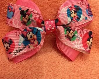 Minnie Mouse alligator clip