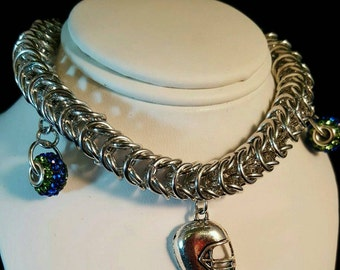 Customizable Box chain Charm bracelet