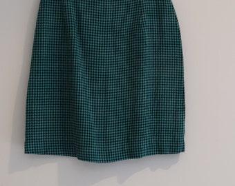 1980s Houndstooth Mini skirt