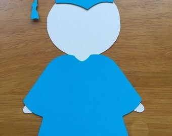 Graduate Cut Out 6 inches ( Set of 8 ), Die Cute, Graduation Party, Grad Party