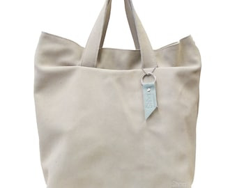 Shoulderbag Aïko White Leather