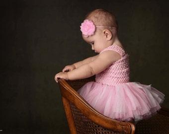 pink headband, Baby girls headband,  headband toddler Girls headband, Infant headband elastic headband