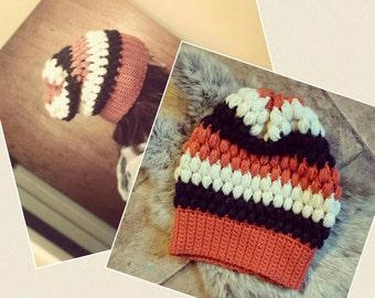 Slouch Puff Stitch Hat